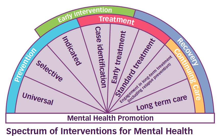 Spectrum of Interventions for Mental Health