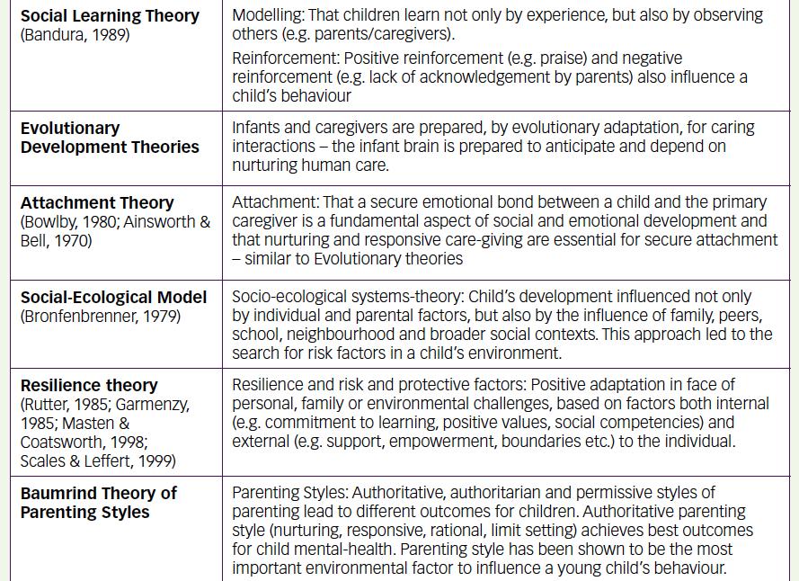 Examples of Child Development Theories